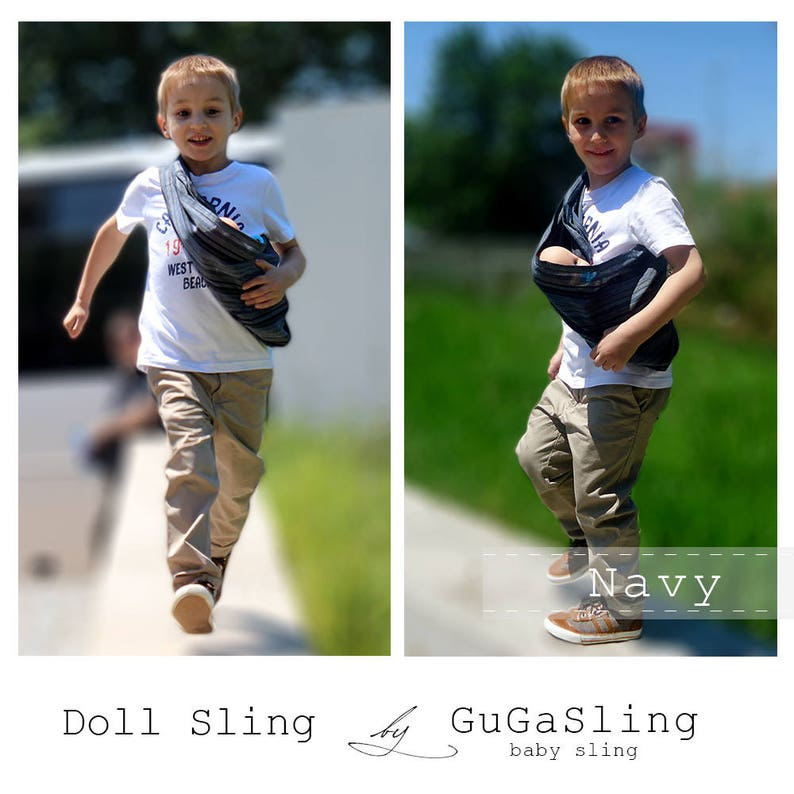 36b3215b434 GuGaSling mini doll sling Baby doll carrier Toy sling for