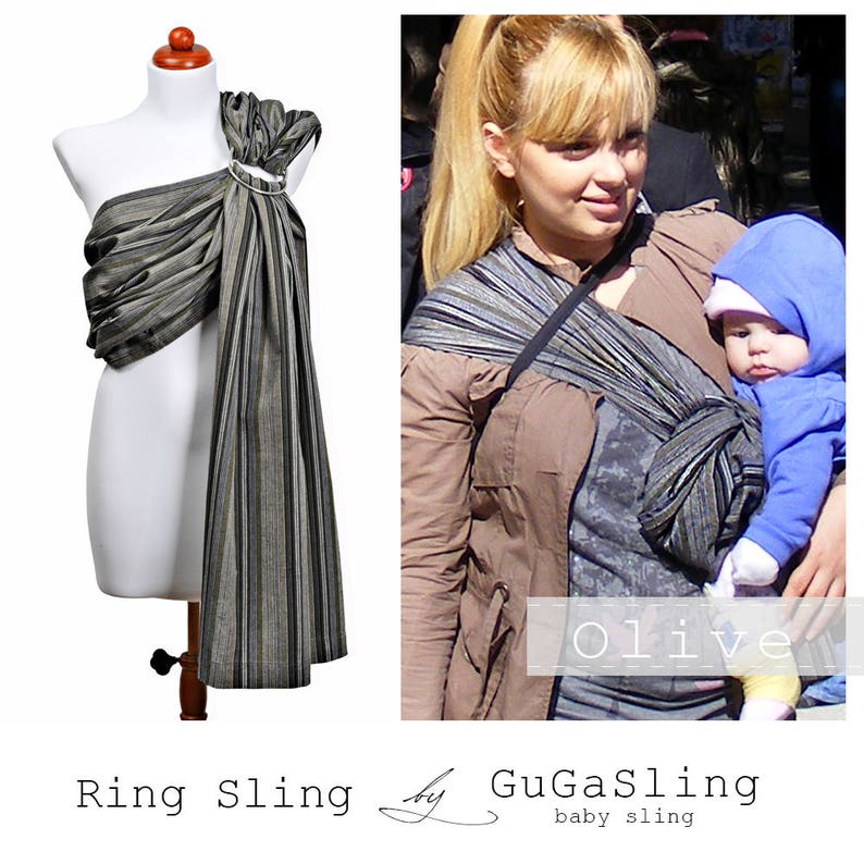 7a56d0a9dfe GuGaSling Olive Baby sling ring Baby wrap Baby