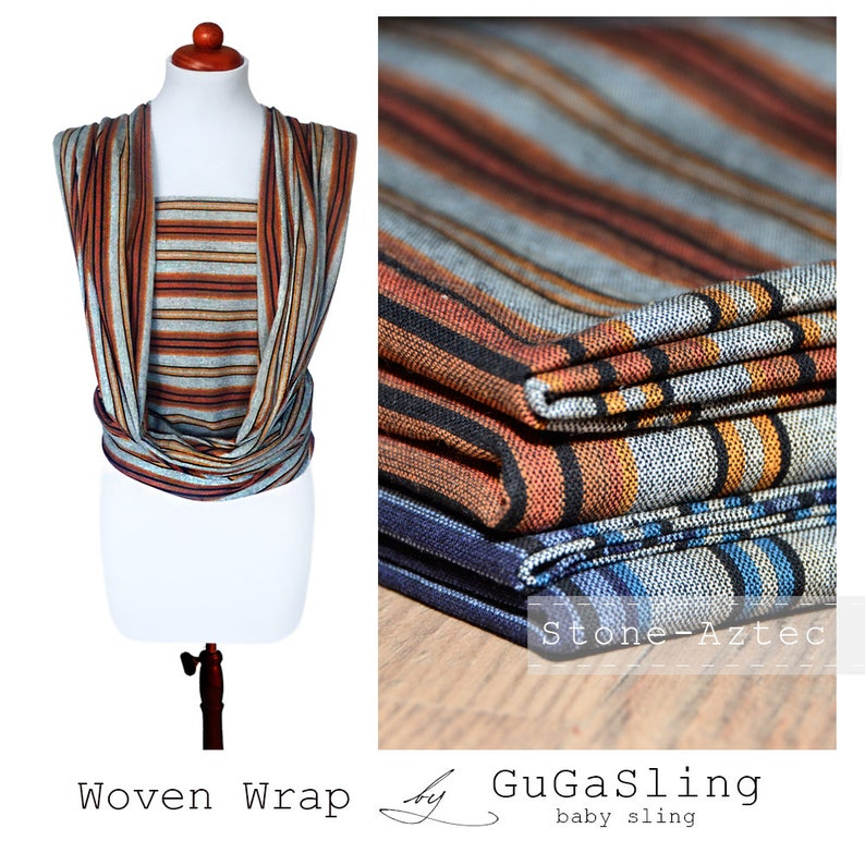 791741b6509 GuGaSling Baby Woven Wrap Stone-aztec Cotton baby carrier