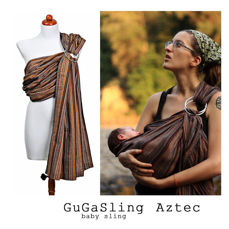 7afb33e477c GuGaSling Aztec Baby sling ring Baby wrap Baby