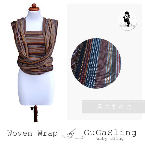 Gugasling Wrap Aztec Baby Sling Woven Wrap Width 70 Cm Baby Etsy