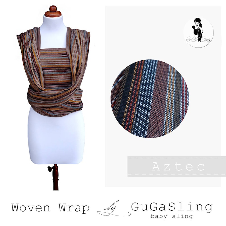 c5740f7e08f GuGaSling Wrap Aztec Baby sling woven wrap-Width 70 cm-Baby