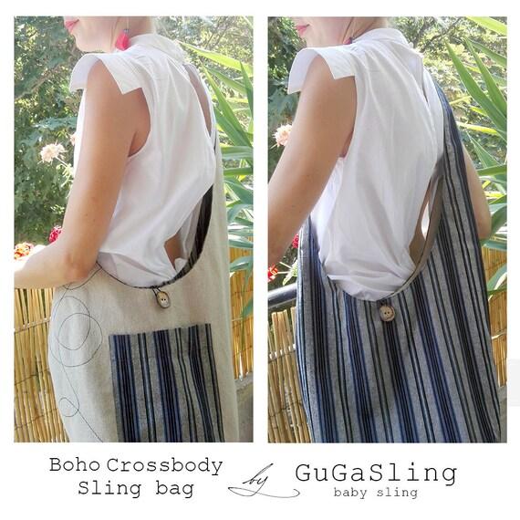 388fc758a76 Boho crossbody bag Hobo sling bag Babywearing bag Diaper