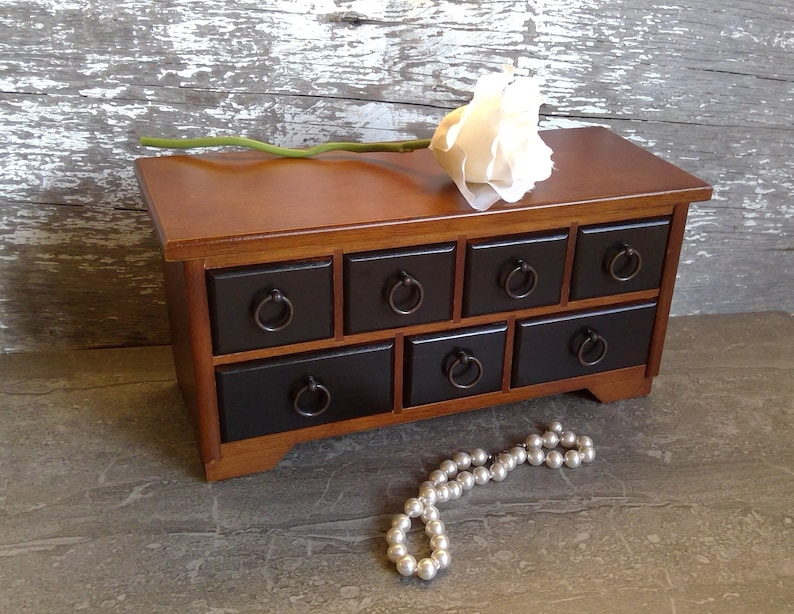 Small Apothecary Cabinet Vintage Trinket Jewelry Armoire Rustic Farm Kitchen Bedroom Bathroom Storage Wood Jewelry Box Gift For Her Him