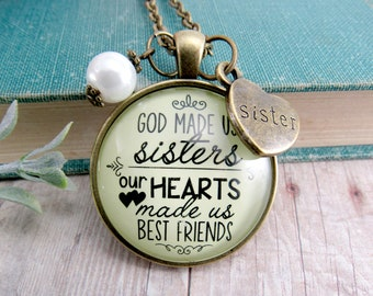 Inspiring Gift for Sister Spoon Pendant Our Roots made us Sisters Keychain Gift for Sister