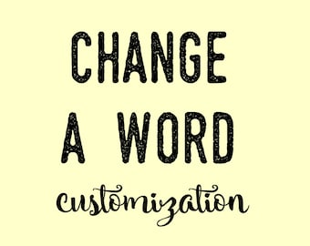 Change ONE Word on a Design