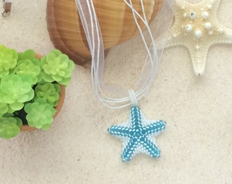 Starfish Pendant, Starfish Necklace, Beaded Starfish, Pendant Necklace,Beaded Starfish Pendant