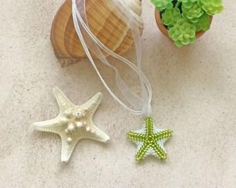 Starfish Jewelry, Starfish Pendant, Starfish Necklace, Beaded Starfish, Pendant Necklace,Beaded Starfish Pendant