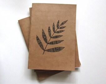 Mandala fern journal/notebook/notepad A5