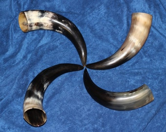 Four Drinking Horn Wedding Party Gifts