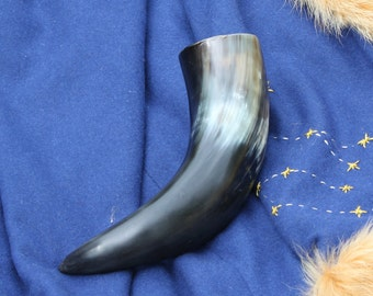 Norse Drinking Horn Food Safe and 8-12 Ounce