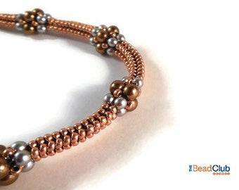 Seed Bead Bracelet Pattern - Beaded Rope Pattern - Tubular Herringbone Stitch Pattern - Beadweaving Tutorials and Patterns - Beading Pattern