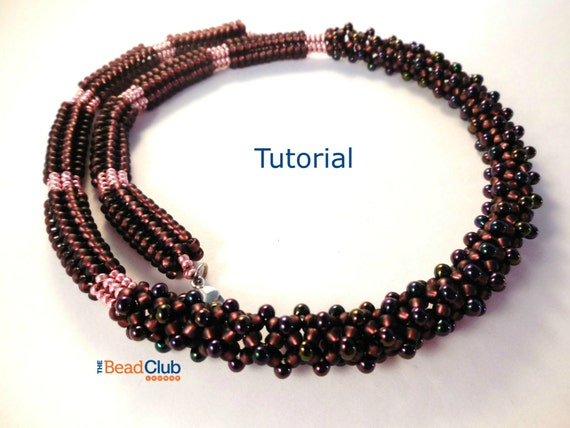 Beaded Necklace Patterns Seed Bead Necklace Beading Etsy Stunning Beaded Necklace Patterns