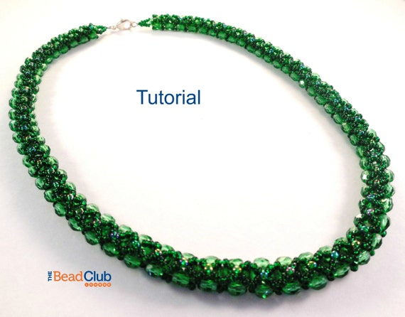 Beaded Necklace Patterns Right Angle Weave Beading Etsy Delectable Bead Necklace Patterns