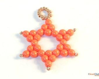 Beaded Star Ornament Patterns - Beaded Christmas Ornament Patterns - Beaded Star Pattern - Beaded Christmas Star - David's Star Ornament