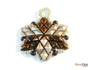 Beaded Star Ornament Patterns - Beaded Christmas Ornament Patterns - Beaded Christmas Star - Diamonduo Beads - Glowing Star Ornament