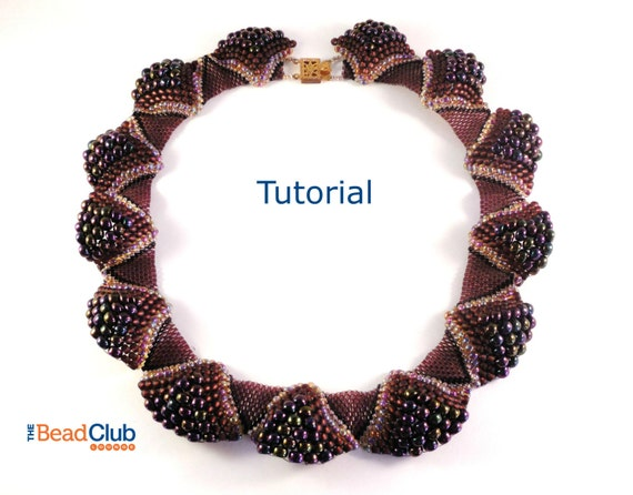 Peyote Stitch Pattern Seed Bead Patterns Necklace Tutorial Etsy Custom Seed Bead Patterns