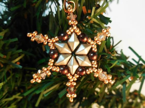 Beaded Snowflake Pattern Christmas Beading Patterns Beaded