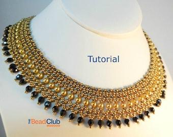 Beaded Necklace Patterns - Seed Bead Tutorials - Bead Netting Pattern - Beading Tutorials and Patterns - Beadweaving Tutorial - Regal Collar