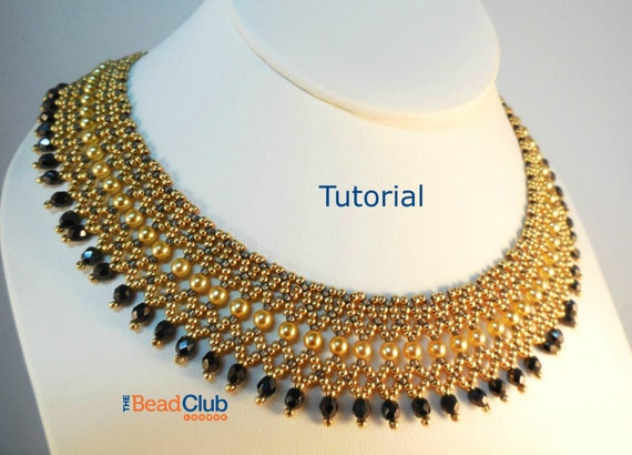 Beaded Necklace Patterns Seed Bead Tutorials Bead Netting Etsy Amazing Beaded Necklace Patterns