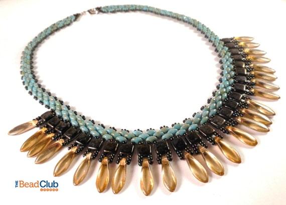 Superduo Bead Patterns Dagger Bead Tutorial Beaded Etsy Best Bead Necklace Patterns