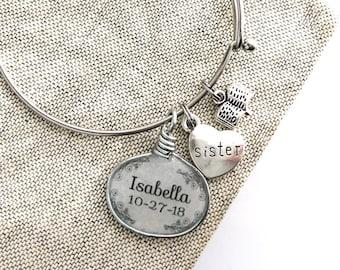 Custom Baptism Set in Silver Bracelet
