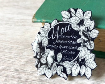 You are worth more than many sparrows Pin  | Jw.ORG | Best Life Ever Pins Buttons | Jw gifts