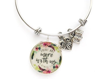 """Blue Floral Best Life Ever Bracelet """"tools for the field ministry"""""""