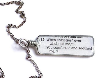 Psalms 94:19| When Anxieties Overwhelm Me | Necklace or Keychain or Bracelet | jw pioneer gifts