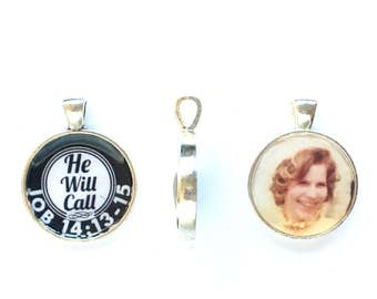 Necklace Personalized double sided He Will Call