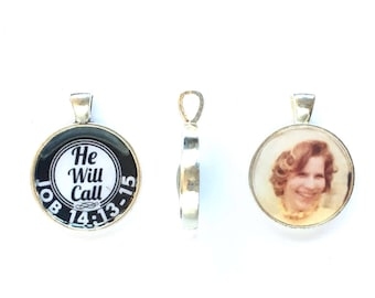 Keychain Personalized double sided He Will Call - JW Just Around the Corner Gifts