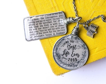 Custom Best Life Ever Set Necklace - JW Baptism Dedication New Pioneer Gifts JW.org