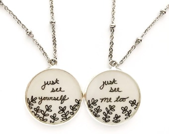 Best Friend Set | Just See Yourself Just See Me Too Necklaces