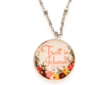 Trust in Jehovah Necklace | jw gifts | jw pioneer gifts