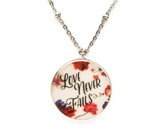 Love Never Fails Necklace | jw gifts | jw pioneer gifts