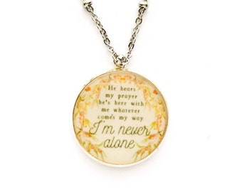 Im Never Alone Necklace | jw gifts | jw pioneer gifts