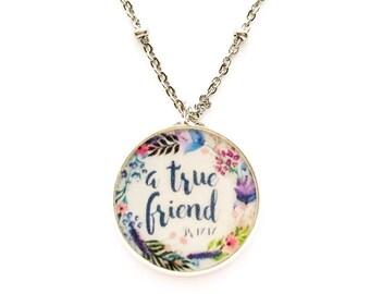 A True Friend Necklace - JW Regular Pioneer Gifts JW.org Jewelry