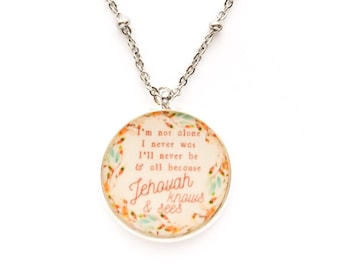 Jehovah Knows and Sees Necklace | jw gifts | jw pioneer gifts
