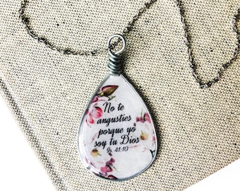 Spanish Do Not Be Anxious 2019 Year Text Isaiah 41:10 necklace | jw jewelry | jw pioneer gifts | jw.org | jw baptism gift