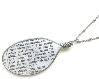 Be Courageous and Strong Deuteronomy 31:6 Necklace or Key chain or Bracelet