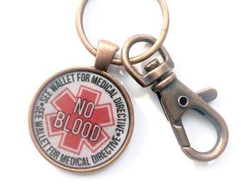 No Blood Keychain Key Chain
