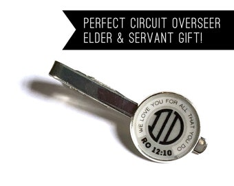 We Love You For All That You Do Personalized Tie Clip | JW Elder Gift Ministeral Servant Brother | Jw.org