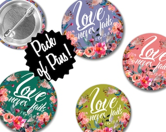 Love Never Fails Vintage Floral Pins  - Special Convention JW Gifts JW.org
