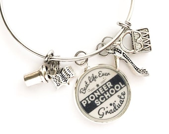 """Pioneer School Bracelet with """"tools for the field ministry"""""""