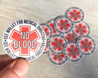 No Blood Sticker - JW Jw.org