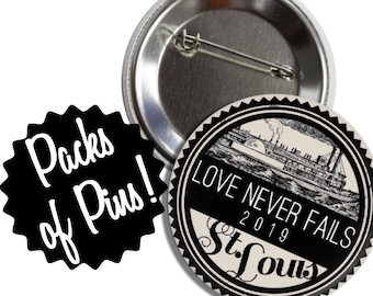 Love Never Fails St. Louis Pins  - 2019 International Convention JW Gifts JW.org