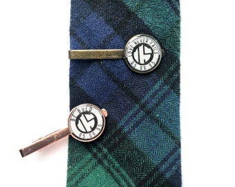 Modern Dedication & Baptism Custom Date and Initials Tie Clip - JW Elder Gifts JW.org
