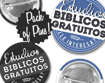 Spanish Free Bible Study Pins - JW Regular Pioneer Gifts JW.org