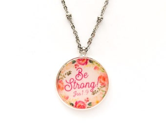 Be Strong Necklace | jw gifts | jw pioneer gifts | jw.org | jw stuff | jw baptism gift | Jehovah's Witnesses | Jw Jewelry | jw necklace