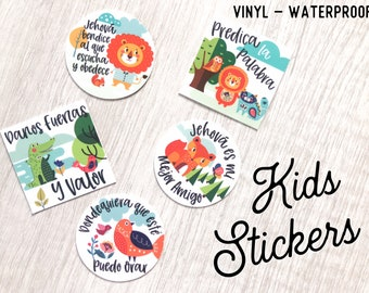 Preorder Spanish Kids Stickers - JW